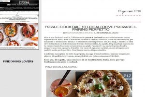 Rassegna Stampa Pizza Social Lab - Fine DIning Lovers