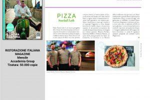 Ristorazione Italiana Magazine Pizza Social Lab